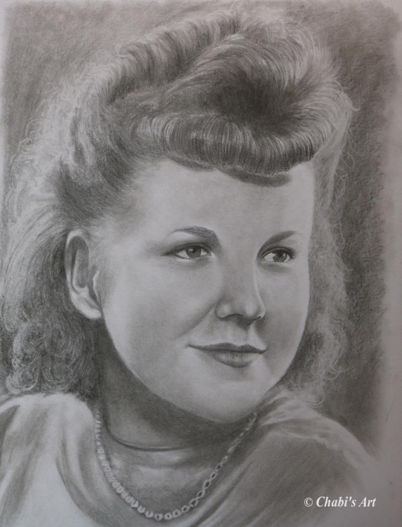 Großmutter in jungen Jahren
