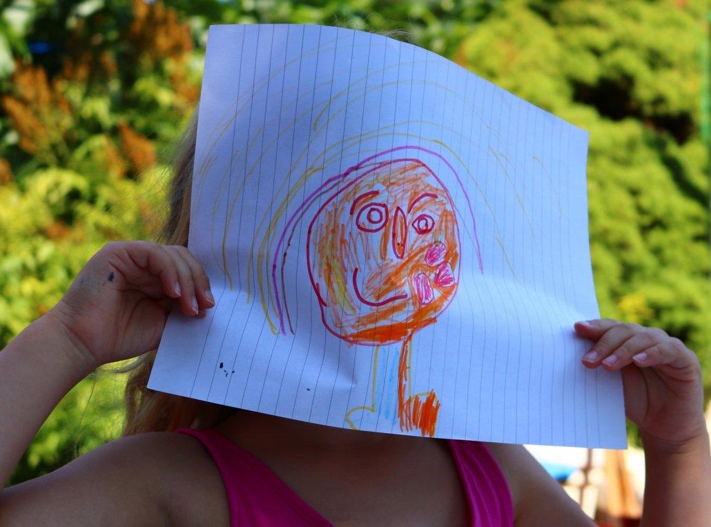 Kleine Nichte zeichnet Rembrandt