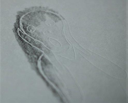 Indem du den Stift schräg hälst, kannst du eine breite Schicht auftragen.