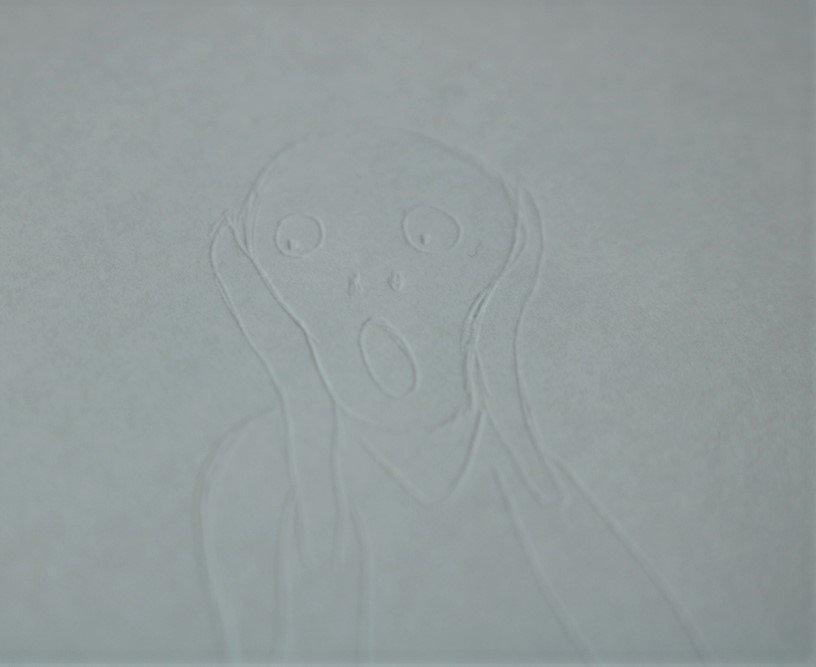 """Edvard Munchs """"Schrei"""", um die Technik zu zeigen"""
