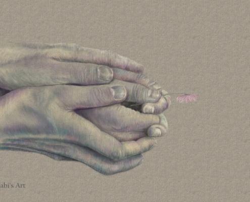 Hände berühren und halten