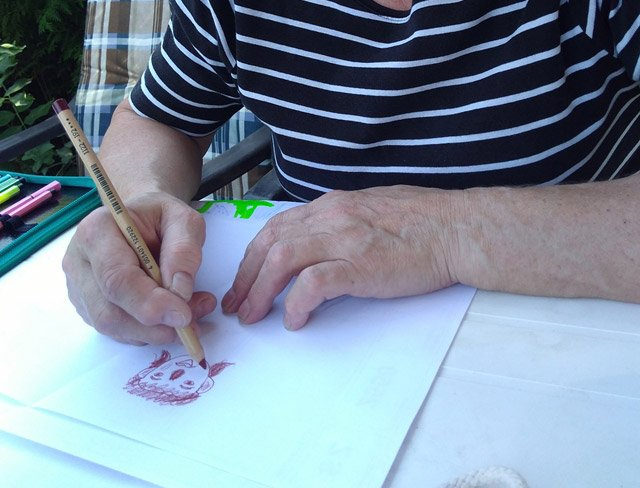 Erwachsene zeichnen meist wie Kinder