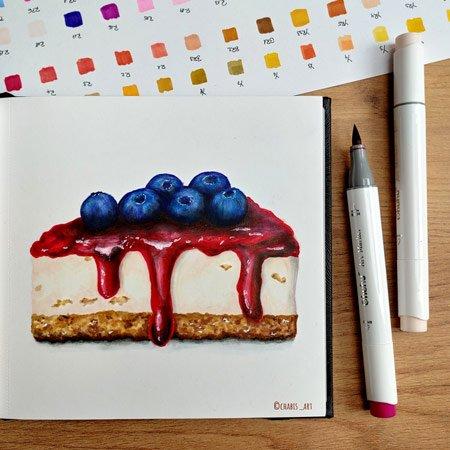 Fertiges Bild eines Cheesecakes mit Ohuhu-Marker