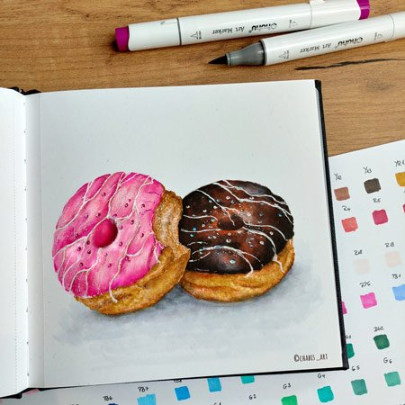 Fertige Donuts mit den Ohuhu-Marker