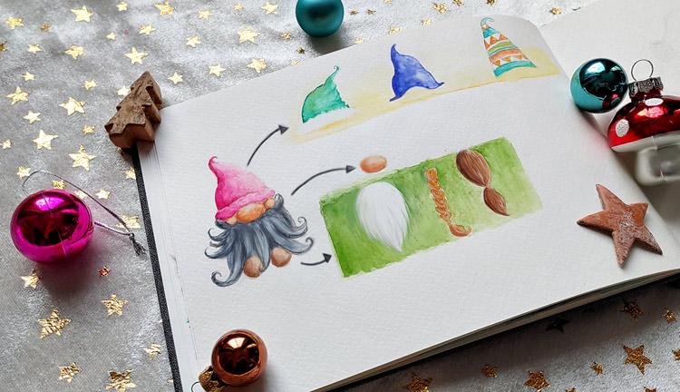 Mehrere Optionen, wie du einen Wichtel malen kannst