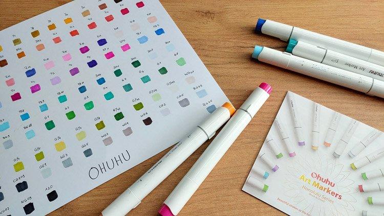 Ich teste Ohuhu-Marker