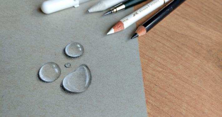 Wassertropfen zeichnen lernen