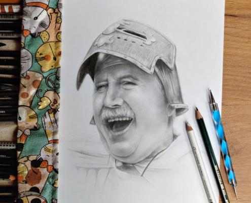 Portrait mit Bleistift gezeichnet