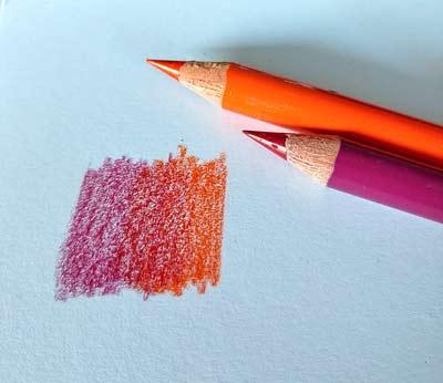 Zum Verwischen nutzte ich zwei Stifte als Ausgangsmaterial