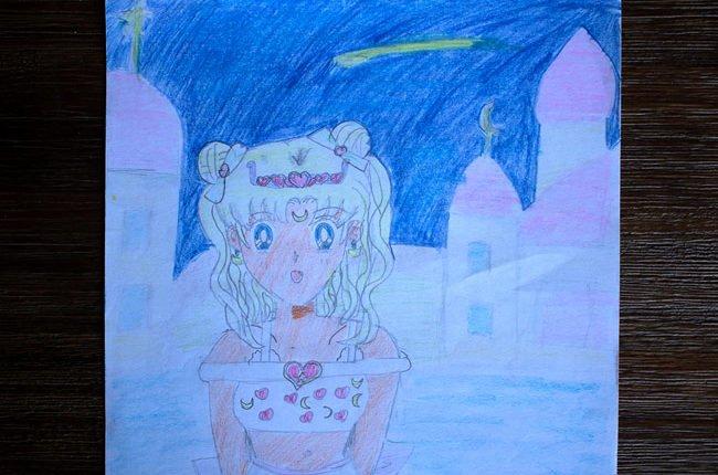 Zeichnung zeigt eine Mangafigur